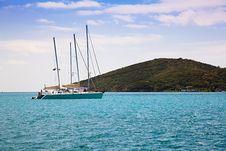 Free Sailboat On The Caribbean Sea Stock Photo - 15146670