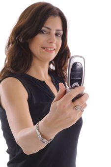 Woman Taking Photo With Camera Phone Stock Photo