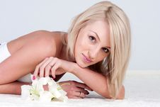 Free Woman With Flower Royalty Free Stock Image - 15146806