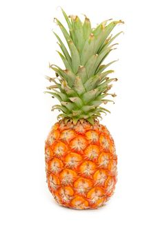Free Pineapple Isolated On White Stock Image - 15146931