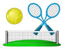 Free Vector Tennis Attributes On White Stock Photos - 15147183