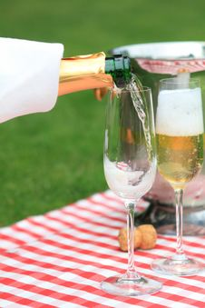 Champagne In Glasses Royalty Free Stock Images