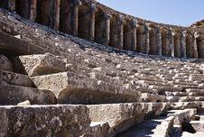 Stone Benches Royalty Free Stock Photo
