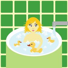 Free Little Girl In Bath Royalty Free Stock Photos - 15148288