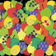 Background With Fruits And Berries Royalty Free Stock Image