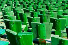 Free Green Seats In A Park Stock Image - 15148461