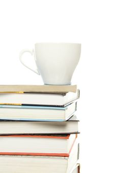 Books And Mug Royalty Free Stock Image
