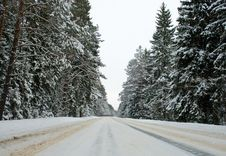 Free Country Road In Winter Royalty Free Stock Photos - 15149208