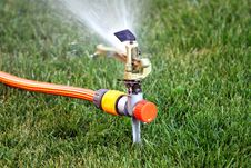 Free Lawn Sprinkler Royalty Free Stock Photos - 15149278