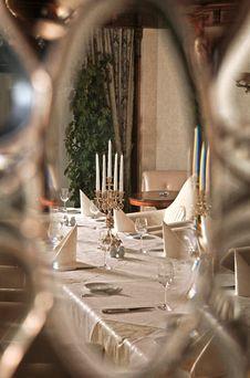 Interior Of Luxury Restaurant Royalty Free Stock Photography