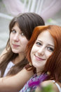 Free Portrait Of Two Beautiful Girls Royalty Free Stock Image - 15154976