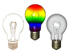 Bulb With Sketch Royalty Free Stock Photography