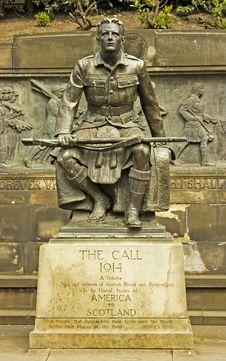 Free WW1 Memorial In Edinburgh, Scotland Royalty Free Stock Images - 15150709