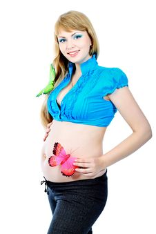 Free Pregnant Woman Royalty Free Stock Photography - 15151097
