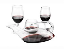 Free Wine Decanter And Glasses Royalty Free Stock Photos - 15152148
