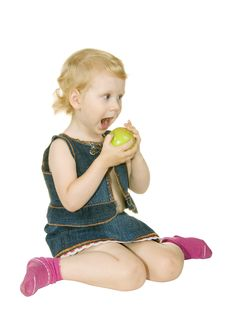 Free Girl With Apple Stock Photography - 15152422