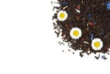 Free Flowers On The Dry Tea Leaves Background Royalty Free Stock Photography - 15153397