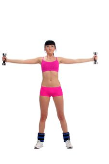 Free Girl With A Dumbbell Stock Photos - 15153823