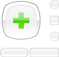 Free Switzerland  White Button. Royalty Free Stock Image - 15154266