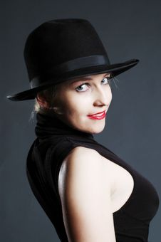 Free Beautiful Sexy Blonde Woman With Hat. Fashion Art Stock Photo - 15154290