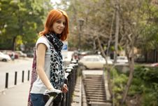 Free Portrait Of Beautiful Red-haired Girl Stock Photography - 15154522