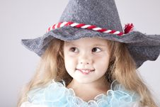 Beautiful Young Smiling Girl In Cap Stock Images