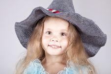 Beautiful Young Smiling Girl In Cap Stock Photos