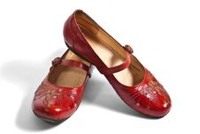 Free Pair Of Red Embroided Shoes Stock Photo - 15154810