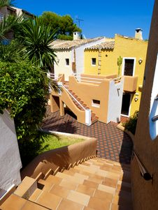 Free Colorful Apartments In Majorca Stock Photography - 15154842