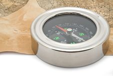 Free Map And Compass Royalty Free Stock Image - 15154876