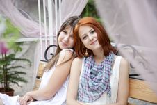 Free Portrait Of Two Beautiful Girls Royalty Free Stock Image - 15154946