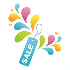Free Colorful Sale Tag Background Stock Photo - 15155050