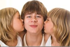 Free Teenager With His Sisters Royalty Free Stock Images - 15155129