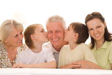 Free Portrait Of A Happy Family Of Five Stock Photography - 15155252