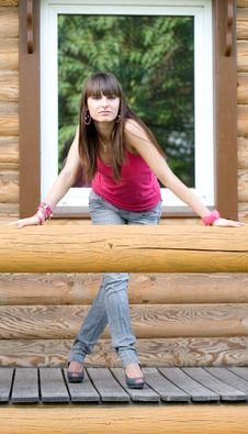Free Girl On A Veranda Stock Photography - 15155902