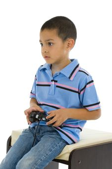 Free Preschooler With Joystick Stock Photo - 15155930