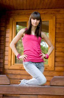 Free Girl On A Veranda Stock Image - 15155931