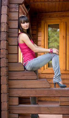 Free Girl On A Veranda Stock Image - 15155941