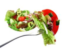 Free Fork With Vegetable Salad Stock Image - 15156411