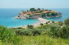 Free Sveti Stefan Peninsula, Montenegro Coastline Royalty Free Stock Photo - 15156615