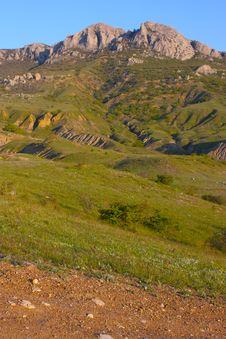 Beautiful Crimea Mountains Stock Image