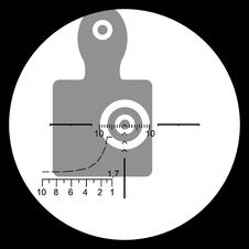 Free The Target In The Optical Sight. Royalty Free Stock Photos - 15157228