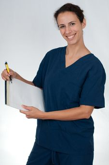 Free Healthcare Professional In Blue Scrubs Stock Images - 15157754