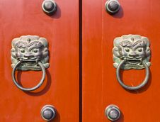 Free Chinese Door Royalty Free Stock Photo - 15157885
