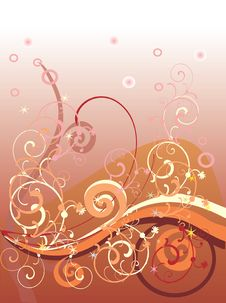 Free Brown Background With Curles Stock Photos - 15158243