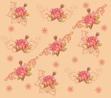 Red Rose Flower Background Illustration Stock Photo