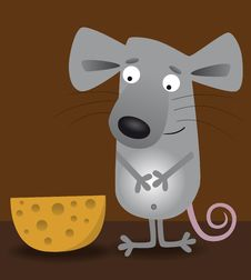 Mouse And Cheese Stock Photos