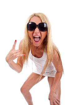 Free Woman Screaming Stock Photography - 15158892