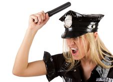 Free Sexy Angry Policewoman Stock Photos - 15159263