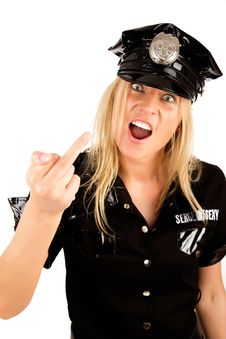 Free Picture Of Bad Policewoman Royalty Free Stock Photography - 15159367